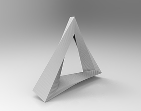Penrose Triangle 3D printable model