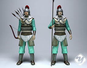 Ancient Soldiers for 3ds Max rigged low-poly