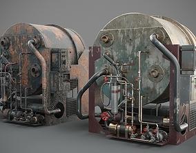 engine 3D PBR Machinery device