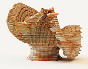 Parametric armchair 2 3D model