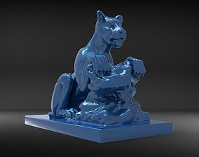 lioness sculpture print 3D printable model