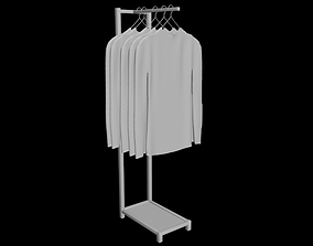 long sleeve tshirt mens rack folded hanging 3D model