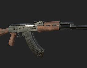 AK-47 3D asset low-poly lowpoly