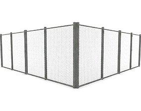 Chain-Link Fence 3D asset