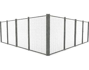 Chain Link Fence 3D asset