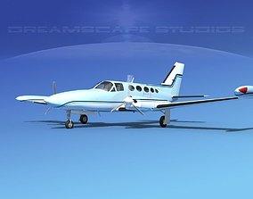3D model Cessna 414 Chancellor V14