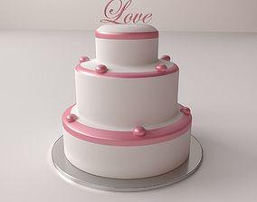 3D Wedding Cake food