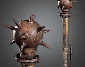 Post Apocalyptic Mace - PAM - PBR Game Ready 3D asset
