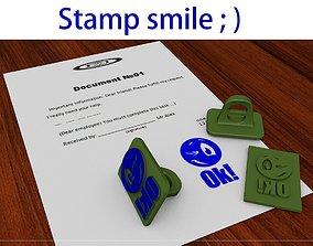 Smile stamp print 3D printable model