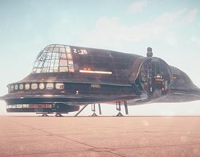 3D model animated Zeppelin
