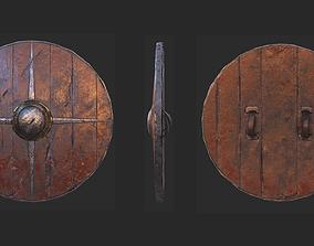 3D model Viking historical shield