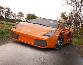 3D Lamborghini Gallardo white