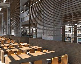 Library Interior 3d Scene school