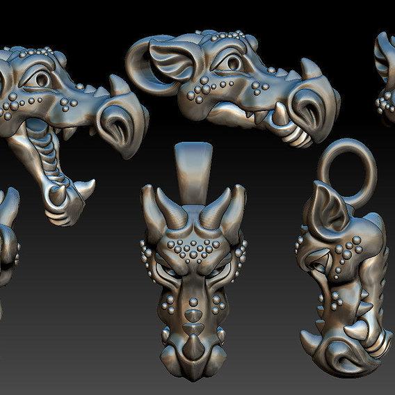 Dragon head  pendant