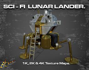 SCI-FI LUNAR LANDER 3D