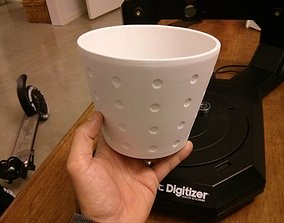 3D print model Digitized dimpled flower pot
