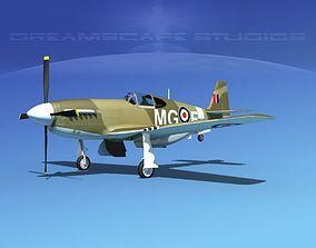 North American Mustang X RAF V04 3D