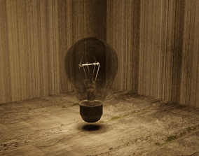 3D asset Basic Lightbulb