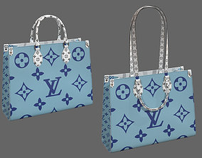 3D Louis Vuitton Bag Onthego Giant Monogram Blue White