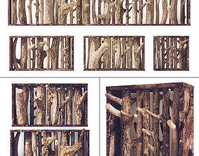 Log hanger big wood 3D