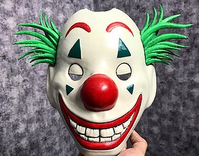 Joker Mask 2019 with hair - Clown mask 3D print model 3