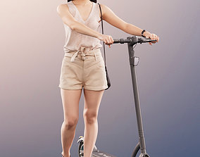 3D model 11312-01 Anita - Young Woman Pushing A Scooter