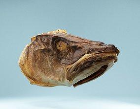 Dried Fish Head 3D model