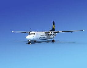Fokker 50 Lufthansa 3D