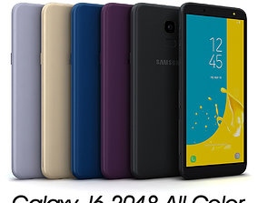 Samsung Galaxy J6 2018 All Color 3D asset game-ready