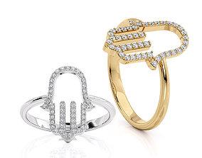 Jewelry ring Hamsa 3D Printable model