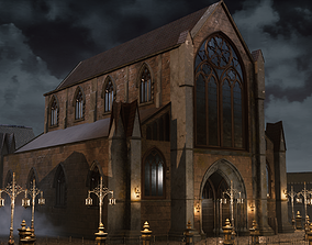 Victorian Building 3D asset game-ready
