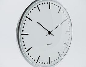 3D Arne Jacobsen City Hall 29cm Wall Watch