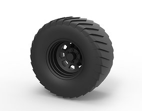 Diecast Wheel from Pulling truck 3D printable model