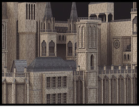 3D asset game-ready architecture Medieval Castle