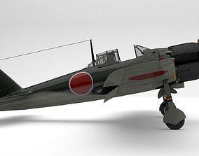 A6M5 Japanese Zero WWII Fighter -PBR UE4- 3D asset