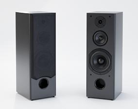 3D asset Pair of Big Speakers