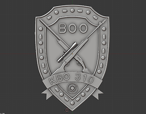 coat of arms of a hunting club 3D print model