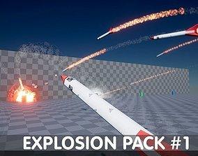Explosion Pack 1 - Nature Elements - Unreal 3D model 1