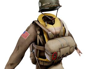 World War 2 US Paratrooper Uniform 3D asset