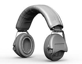 Tactical headphones MSA Sordin Supreme Pro X High Poly 3D
