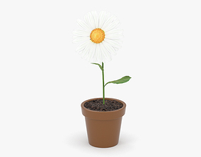 3D model floral Flower pot