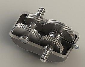 2-speed gearbox 3D