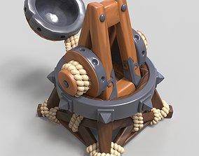 3D model Catapult Ballista Trebuchet Ancient Medieval 1