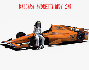 Andretti indy car 2017 3D asset