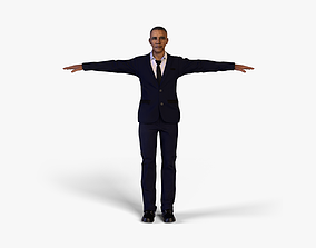 3D asset rigged low-poly Barack Obama