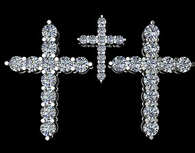 jewelry Cross with diamonds 3D printable model