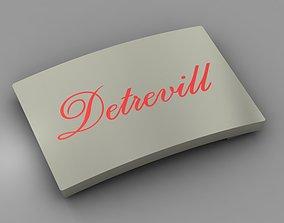 Buckle with enamel Detrevill 3D print model