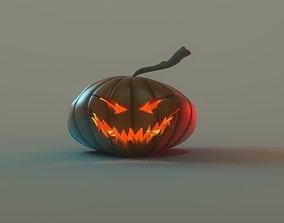 Pumpkin 3D asset low-poly