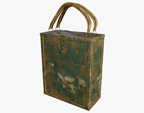 German WWII Breda MG-8mm Ammo Box-Low Poly 3D model