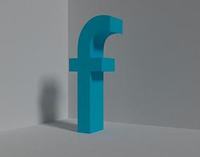Letter F - lowercase 3D model